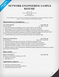 Network Engineering Resume Sample Professional Experience