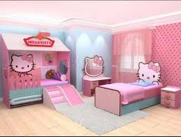 Amazing Pink Hello Kitty Themes And Modern Decoration In Kids Bedroom Design Ideas Designs