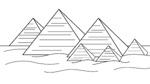 Giza From Ancient Egypt Coloring Page Free Printable