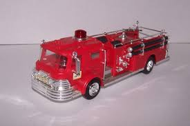 100 Red Fire Trucks Vintage Hess 1970 Hess RED Fire Truck Marx Toys