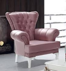casa padrino baroque armchair pink white 98 x 83 x h 101 cm living room armchair in baroque style baroque furniture