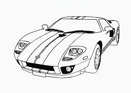 Ford Mustang Street Car Coloring Pages Free Cars