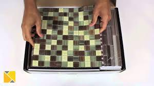 diy backsplash peel and stick glass tile kit review youtube