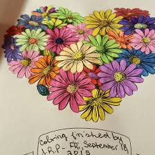 Flowers I Color With Gelly Roll Pens Pg From The Colorama Coloring Book