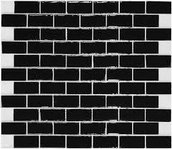 black glass subway tile backsplash kitchen liner wall brick