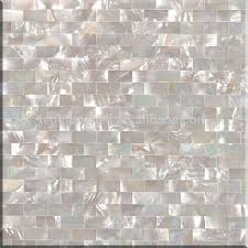 white seamless brick type shell mosaic tile pearl glass