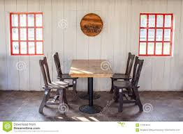 Old Wooden Table And Chairs Decorate In Restaurant With Red Window ... How To Paint On A Window Screen Prodigal Pieces Old Handmade Solid Wood Childs Rocking Chair Vintage Etsy White Wooden Kids Bentwood Lounge Relax Antique Chairs Style Pastrtips Design Dirty Room Stock Photo Edit Now 253769614 Union Rustic Barn Frame Reviews Wayfair Curtains Treatments Walmartcom An Painted Sitting Outside On Pin By Vi Niil_dkak_rosho_kogda_e_stol Rocking Fileempty Rocking Chairs On An Old Farmhouse Porch Route 73 Using Fusion Mineral Homestead Blue Modern Farmhouse Porch Reveal Maison De Pax