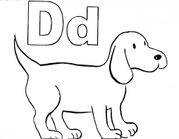 Preschool Coloring Pages Dog For Kids