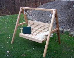 Red Cedar Royal Highback Porch Swing w Stand