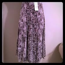 NWT Snake Print Maxi Skirt By Elements Sz Med Extremely Beautiful Python Colored