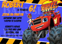 Blaze And The Monster Machines Themed Birthday Party Invitation ... Birthday Monster Party Invitations Free Stephenanuno Hot Wheels Invitation Kjpaperiecom Baby Boy Pinterest Cstruction With Printable Truck Templates Monster Birthday Party Invitations Choice Image Beautiful Adornment Trucks Accsories And Boy Childs Set Of 10 Monster Jam Trucks Birthday Party Supplies Pack 8 Invitations