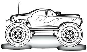 Free Printable Vintage Cars Coloring Pages Disney Monster Truck Police