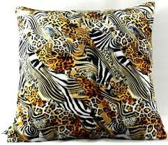 casa padrino luxus deko kissen nevada leopard zebra 45 x 45 cm feinster samtstoff wohnzimmer kissen