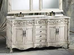 antique white vanity set furniture throughout carrara marble top