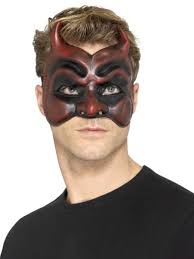 Scary Halloween Half Masks by Scary Devil Masks Halloween Masks Party Superstores