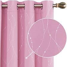 deconovo vorhang blickdicht vorhänge gardinen schlafzimmer kinderzimmer thermogardinen ösen 175x140 cm rosa 2er set