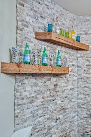 Imposing Rustic Wood Floating Shelves And Stone Wall Decor Ideas Design Trends In