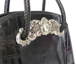 brighton u0027chantilly lace u0027 black leather handbag with dust bag