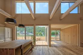100 Simple Living Homes A Family Home In Okayama That Features Cathedral