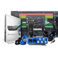 PreSonus AudioBox Studio With Headphones Microphone Mic Cable USB And StudioOne Artist Software Download