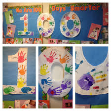 100 Days Of School Ideas Bulletin Board 100 Fingers 100 Days Of
