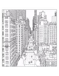 Free Coloring Page Adult New York 1st Avenue And