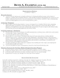 Example Of Veterinarian Resume And Templates Some Like Examples Vet Nurse