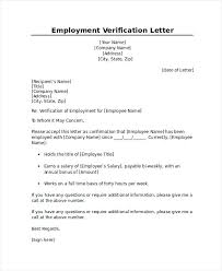 Employee Verification Letter Employment Verification Letter Ideas