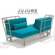 chaise design jujube piétement acier peint assise coussin garnie