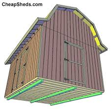 10x12 Gambrel Storage Shed Plans by Tall Gambrel Barn Style Sheds