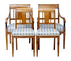 100 Birch Dining Chairs Antique Set Of 4 For Sale At Pamono