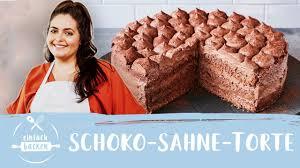 schoko sahne torte einfach selber machen i einfach backen