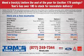 100 Carmenita Truck Center Section 179 Deductions Toms