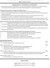Research Scientist Resume Sample Template Page 2