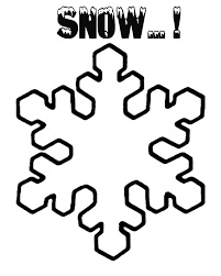 Free Craft And Art Activities Kids Easy Clipart Winter Snow Falling Picture Snowflake Colouring Page