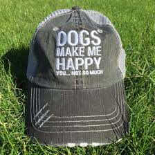 100 How Much A Truck Driver Make Dogs Me Happy You Not So Distressed Er Cap