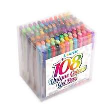 Image Is Loading Courise 108 Unique Colors Gel Pens Pen