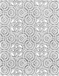 Interlocking Circles Coloring Page For Adults