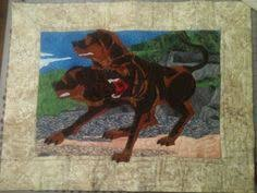 The Dog In First Harry Potter Book This Quilt Was Designed Using Found Mythological Creatures Stained Glass Coloring