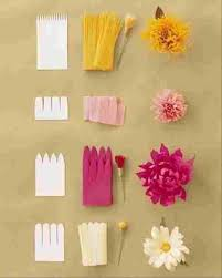 Craft Work With Paper Flowers Step By