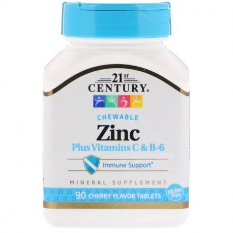 21st Century Zinc Chewable Dietary supplement - Cherry, 90ct