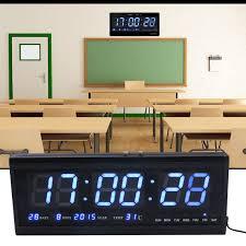 wanduhr led digitaluhr digital wohnzimmer küchenuhr