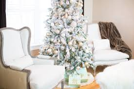 Unlit Artificial Christmas Trees Walmart by White Christmas Tree Walmart Walmart Flocked Christmas Tree