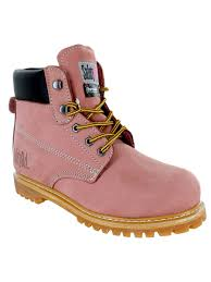 100 7m To Feet Safety Girl II Insulated Work Boot Light Pink Soft E 7M