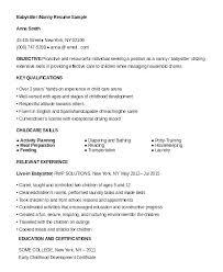 Resume For Babysitter Sample Nanny Babysitting Template Job