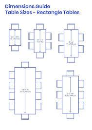 variationen der größe rechtecktabellen