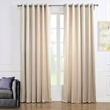 luxus gardine vorhang schlaf wohnzimmer ösen creme weiß qualität 1er pack