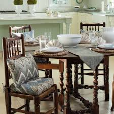 Dining Room Washable Kitchen Chair Cushions Blue Seat For