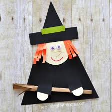 Our Fun Paper Santa Craft We Made A Few Years Back But Instead Its Perfect For Halloween Using Shapes Makes This Fantastic