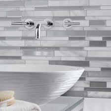Metal Adhesive Backsplash Tiles by Tile Backsplashes Tile The Home Depot